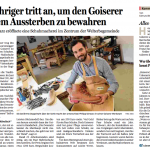 OÖ Nachrichten - Salzkammergut Nachrichten<span>Philipp Schwarz eröffnete eine Schuhmacherei im Zentrum der Welterbegemeinde</span>